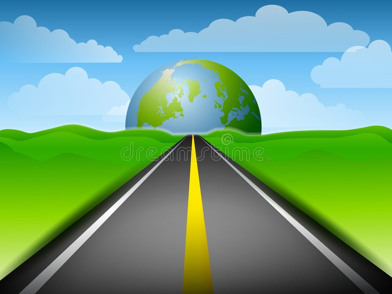 Long Road To Earth royalty free illustration