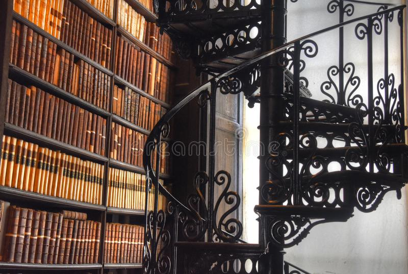 The Long Room in the Old Library at Trinity College Dublin stock photo