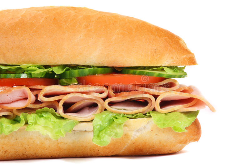 Long sandwich isolated royalty free stock photos