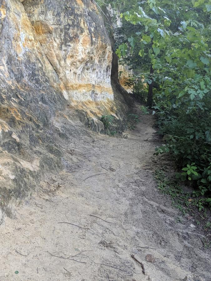 Long Sandy Outdoor Pathway stock image