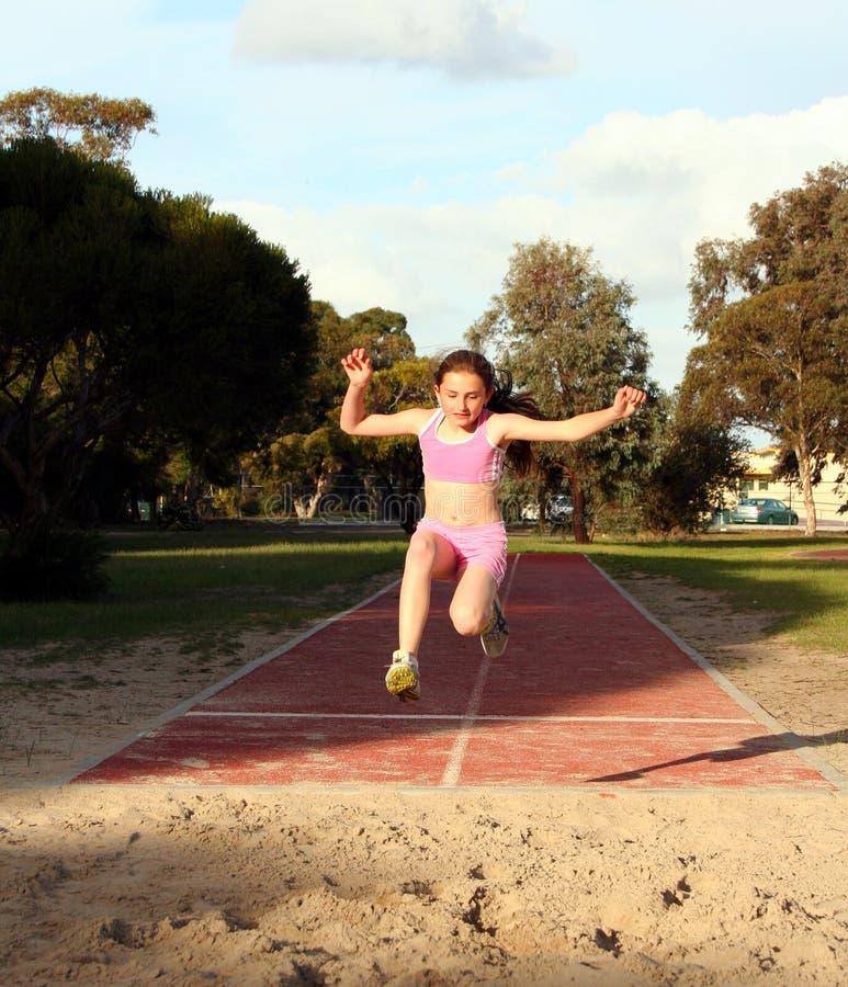 Long saut image stock