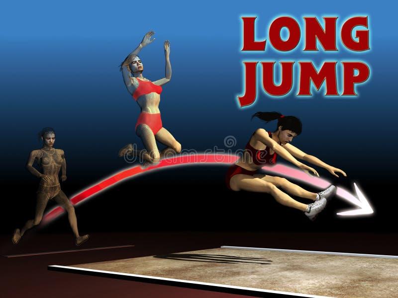 Long saut d'athlétisme illustration libre de droits
