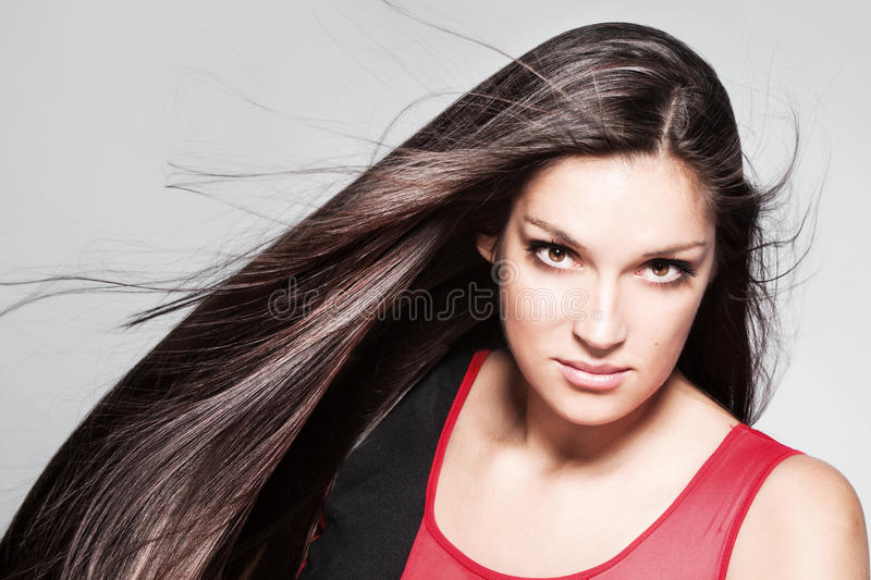 Download Long shiny hair stock image. Image of skin, studio, silky - 26463481