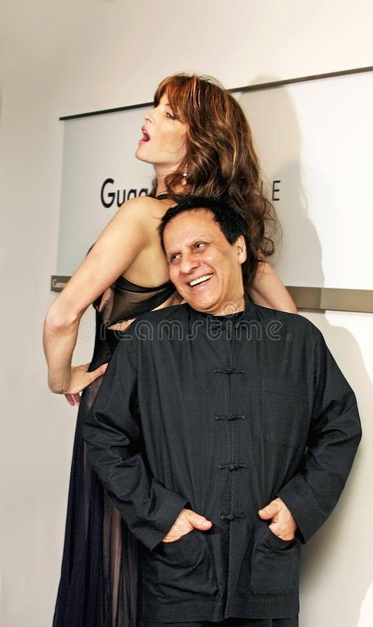 The Long and Short of It: Stephanie Seymour and Azzedine Alaia royalty free stock photos