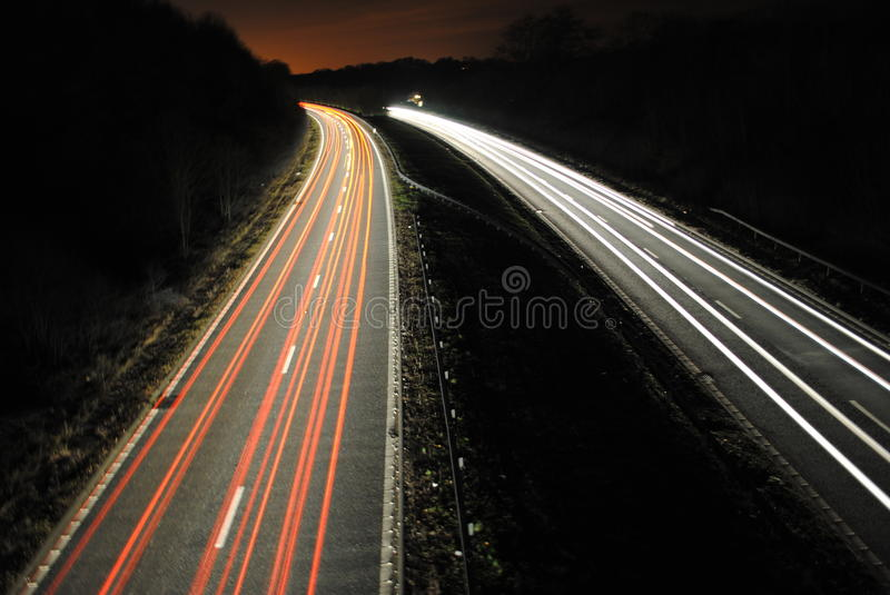 Download Long Shutter Speed Of Cars Lights On Road Stock Image - Image: 39822301