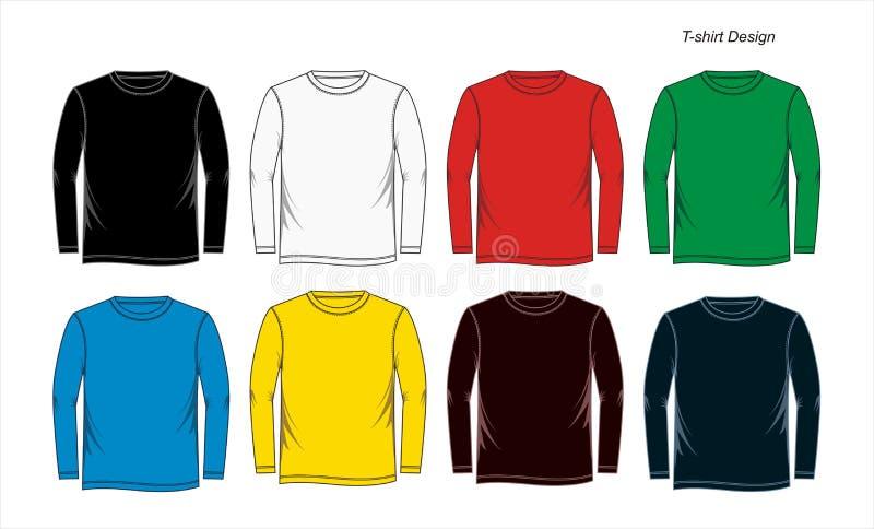 long sleeve t shirt template blank vector stock vector. Black Bedroom Furniture Sets. Home Design Ideas
