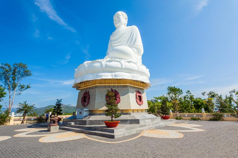 Long Son Pagoda, Nha Trang stock photo