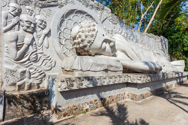 Long Son Pagoda, Nha Trang royalty free stock image
