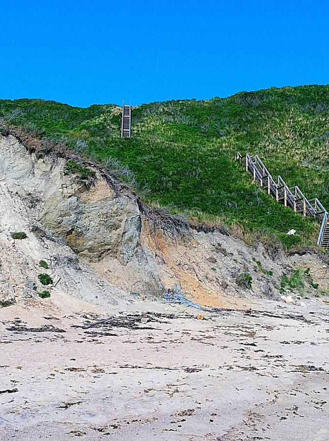 Long stairs down Bluff royalty free stock photos