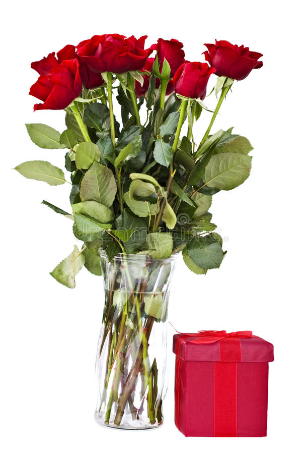 Free Long Stem Roses And Gift Royalty Free Stock Image - 12574396