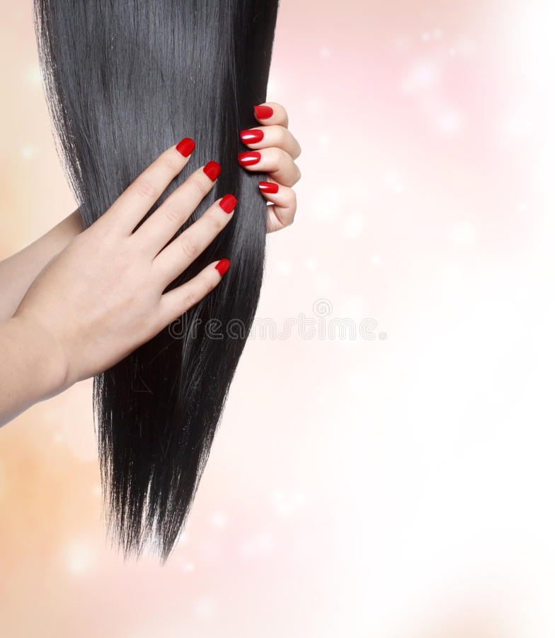 Long straight black hair