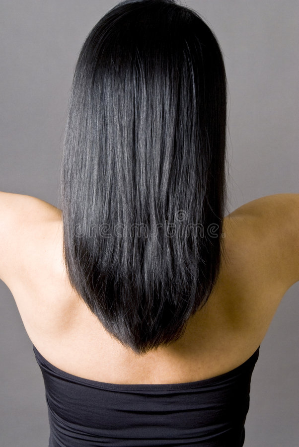 Download Long Straight Black Hair Royalty Free Stock Photography - Image: 8243637