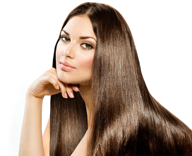 Long Straight Hair royalty free stock photos
