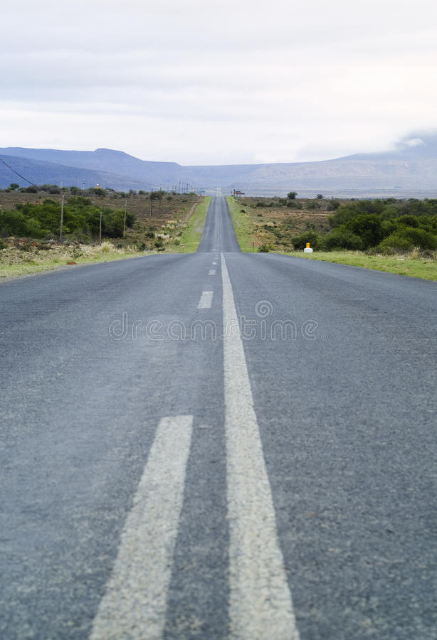 Download Long straight road stock image. Image of outdoors, green - 17739887