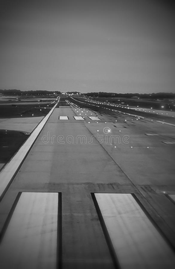 Long stretch airplane hwy stock photo