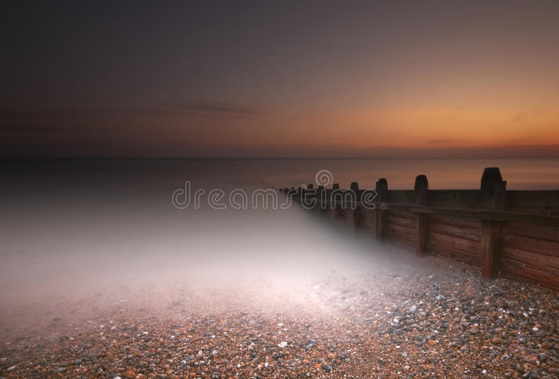 The Long Sunset stock photography
