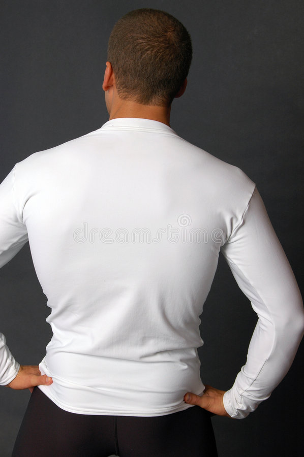 Long té blanc ordinaire de chemise photo libre de droits