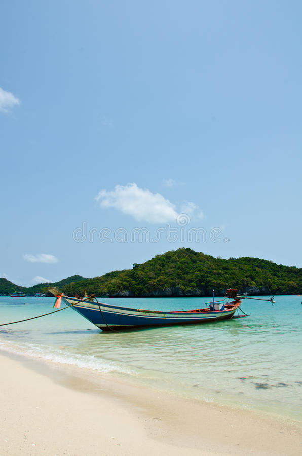 Download Long Tail Boat On The Beach Stock Image - Image: 24505639