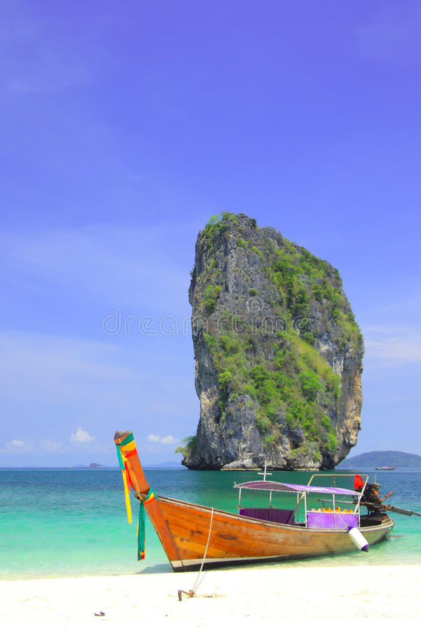 Download A Long Tail Boat @ Koh Poda Stock Image - Image: 9448827