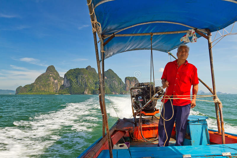 Download Long Tail Boat Trip In Phang Nga Bay Editorial Stock Image - Image of blue, andaman: 28278549