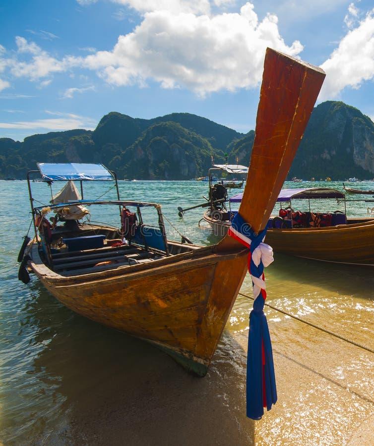Phi Phi Relax Beach Resort: Long Tailboats By The Shore At Phak Bia Island, Krabi
