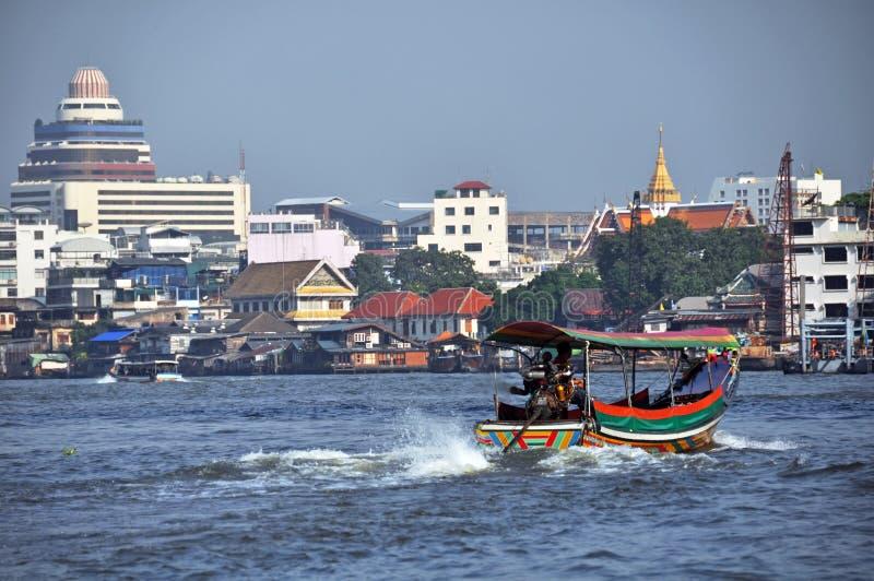 Long Tailed Boat on Chao Phraya River, Bangkok royalty free stock image