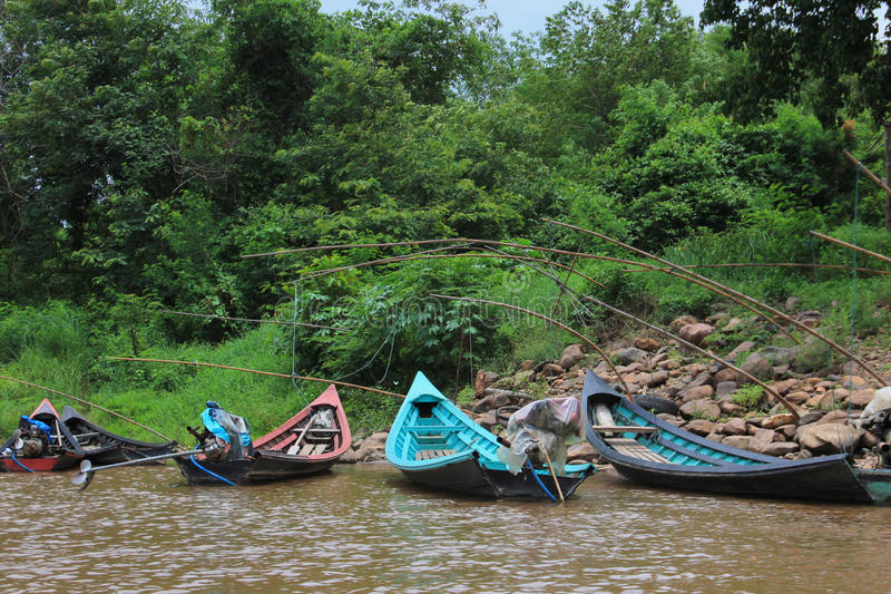 Long-tailed boat stock photos