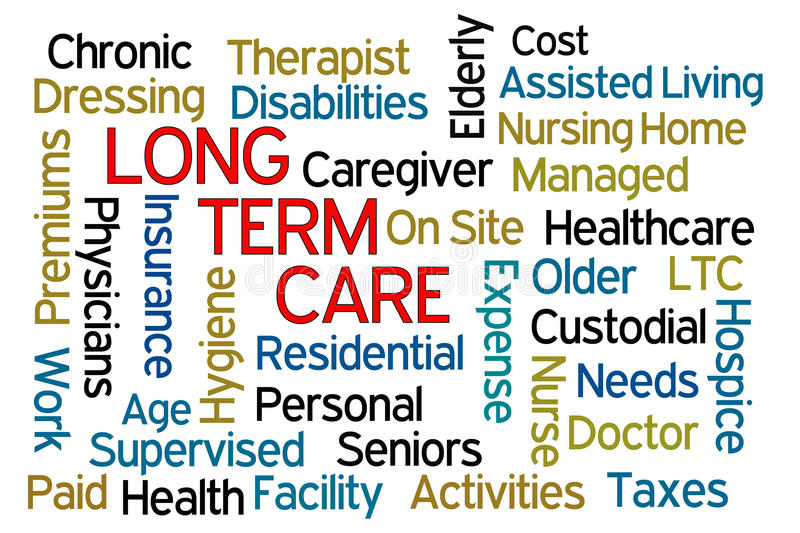 Long Term Care vector illustration