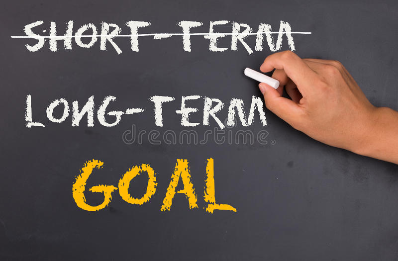 Long-term goal stock image