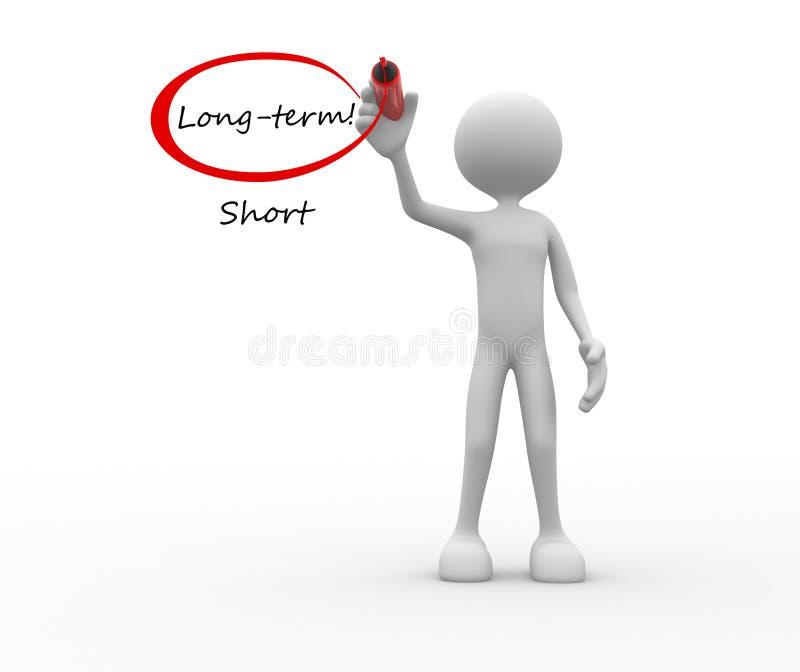 Long terme contre des mots courts illustration stock