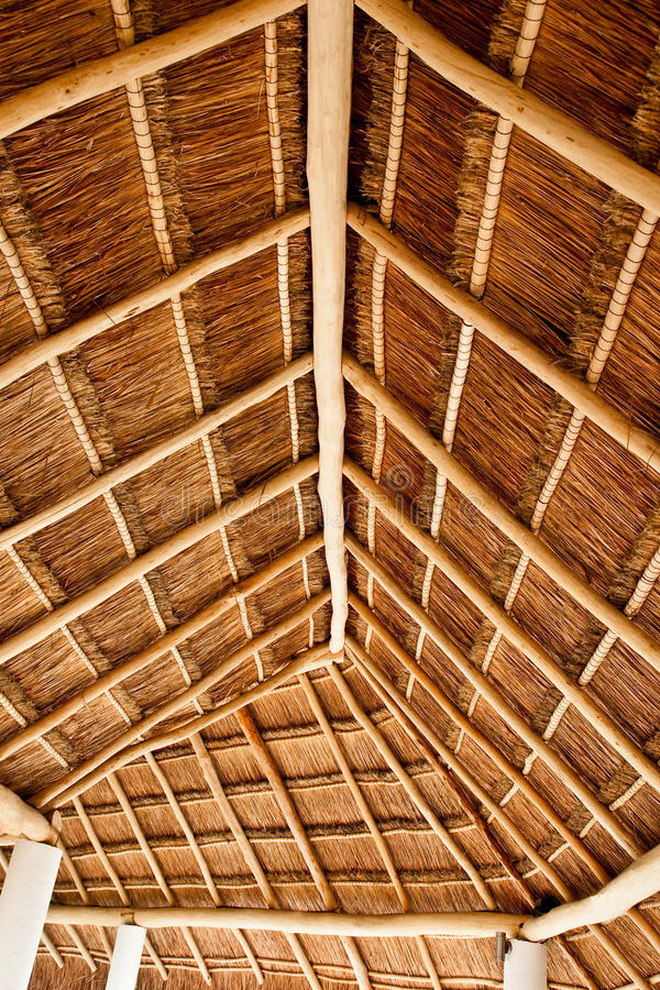 Long Thatched Roof Stock Photo Image Of Roof Bamboo