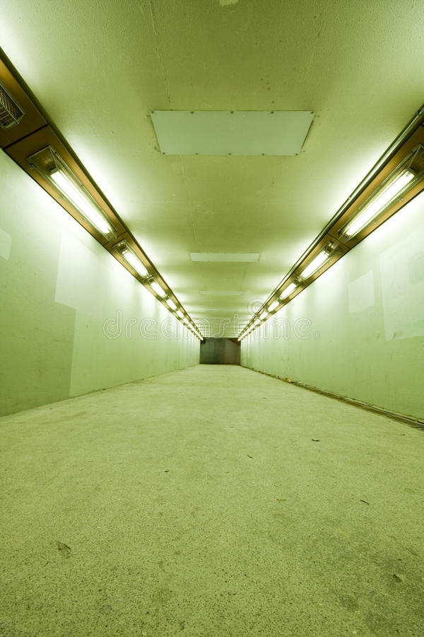 Download Long tunnel with lamps stock photo. Image of road, kong - 14357478