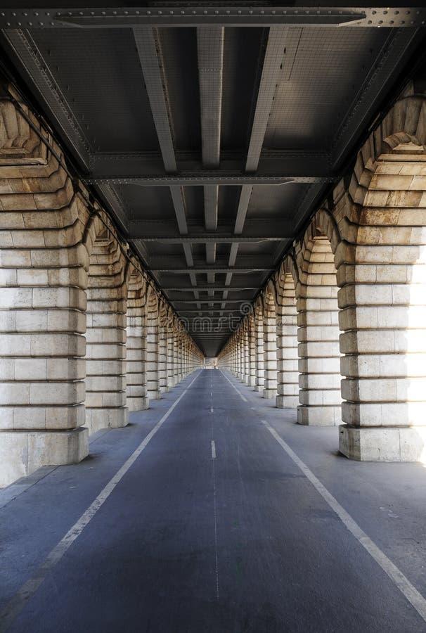 Long Tunnel Under Bridge Stock Images