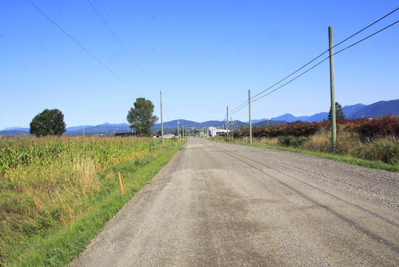 Long Unpaved Rural Road royalty free stock image