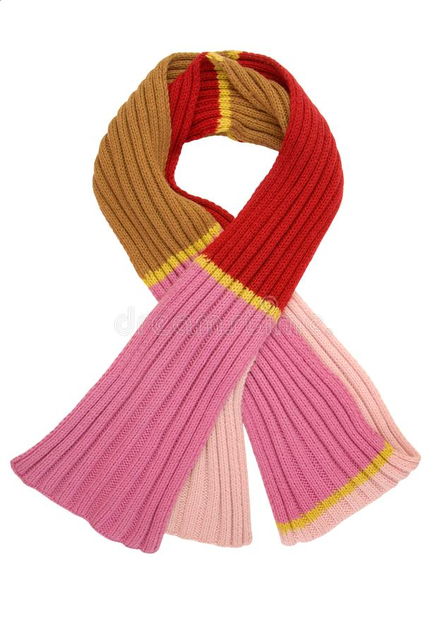Long variegated scarf stock images