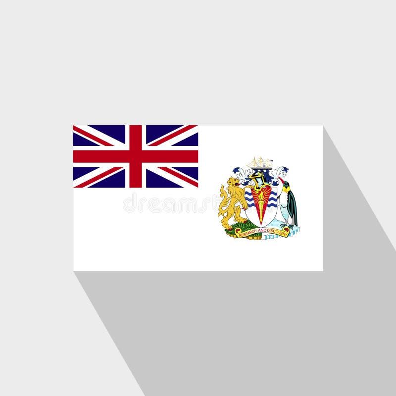 Long vecteur de conception d'ombre de drapeau antarctique britannique de territoire illustration stock