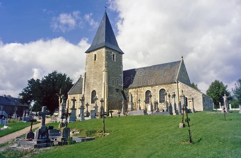 Long Villa Church Brittany France royalty free stock images