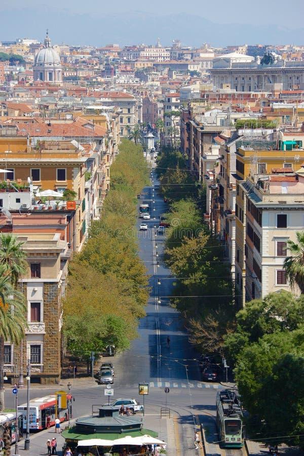 Long walk around favorite Rome stock images