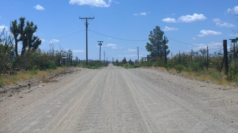 A Long Walk in the Desert stock image