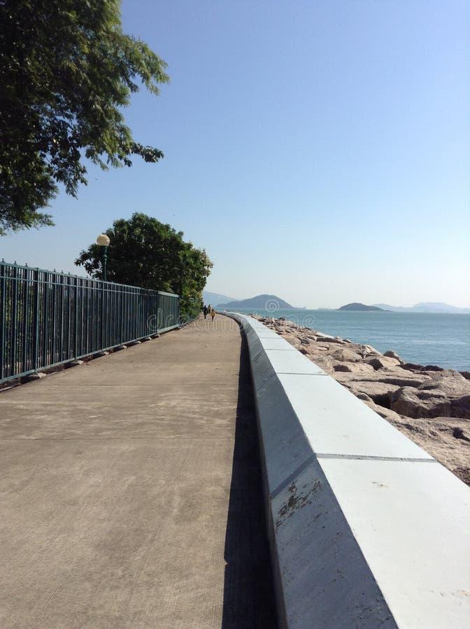 A long walk royalty free stock photos
