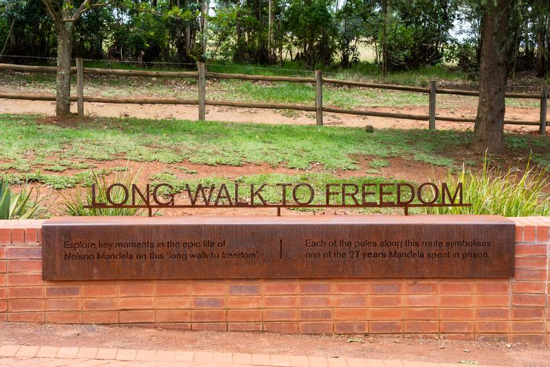 The Long Walk To Freedom royalty free stock photo