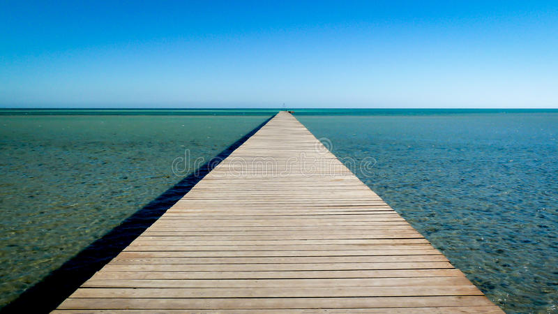 A long walk to nowhere royalty free stock photo