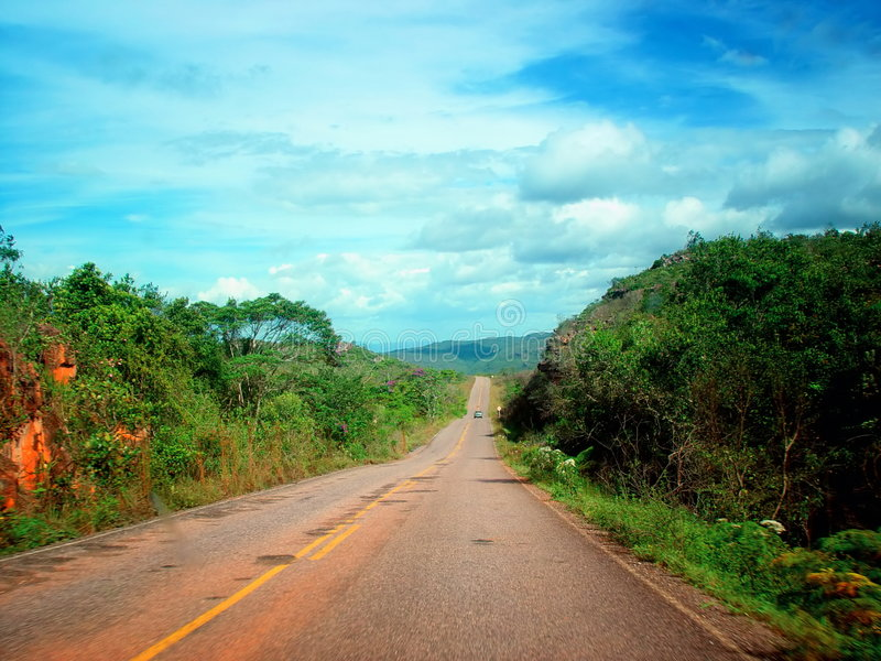 Download Long Way stock image. Image of trip, road, clouds, silhouette - 505615