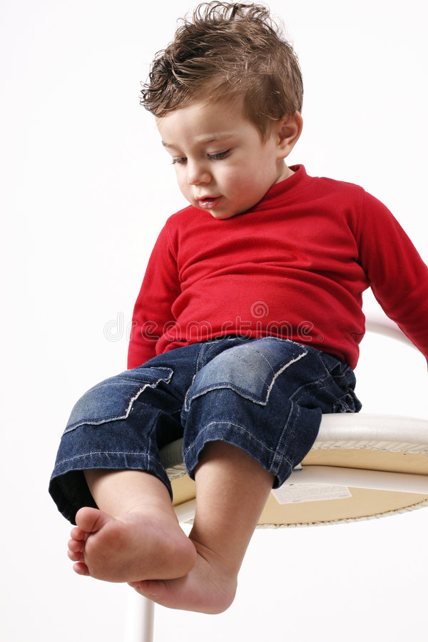Download A long way down stock image. Image of toddler, blue, males - 35277