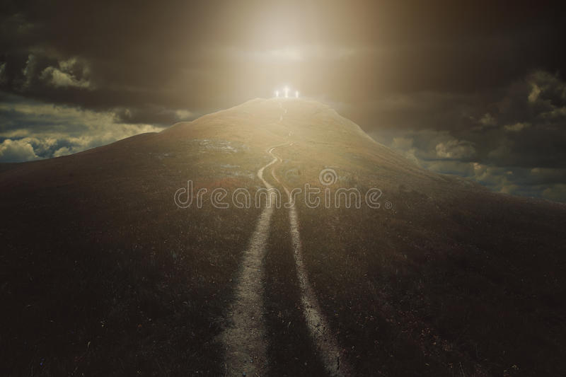 Long way to salvation royalty free stock photo