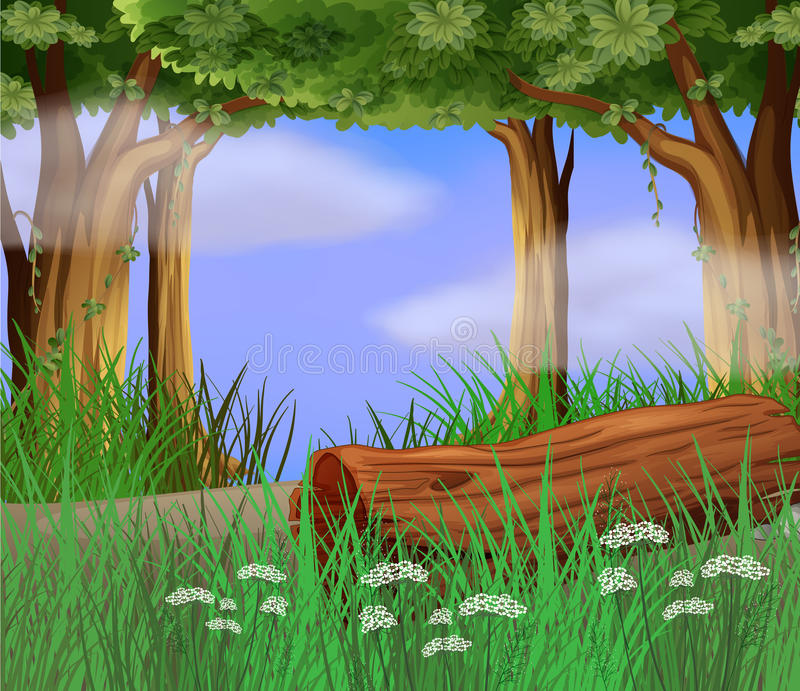 Long weeds at the roadside. Illustration of long weeds at the roadside stock illustration