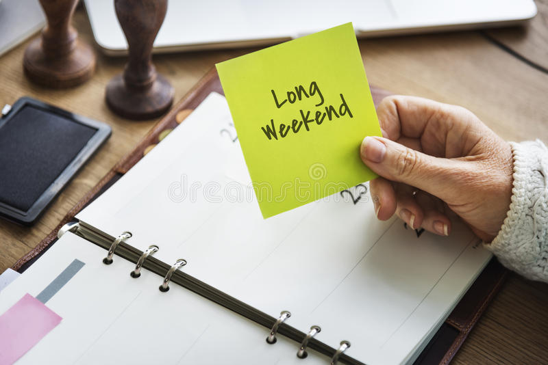 Long Weekend Relaxation Vacation Holiday Concept royalty free stock photo