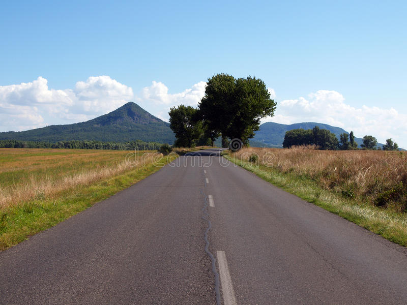 The long and winding road stock photography