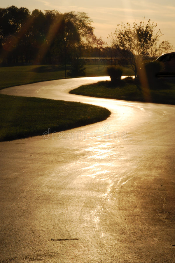 Long and Winding Road royalty free stock images