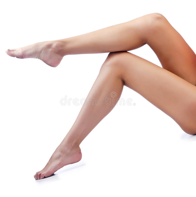 Download Long woman legs  on white stock image. Image of epilation - 26480571